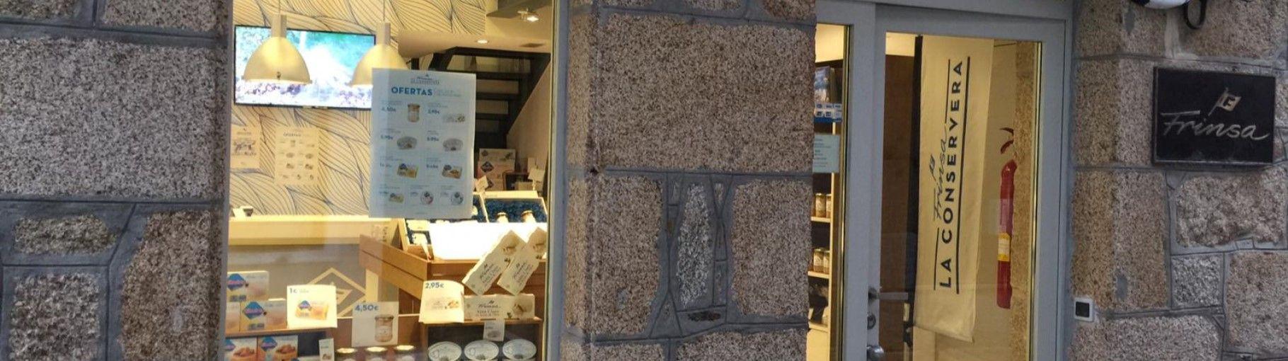 Tienda de conservas Frinsa en Ribeira Galicia