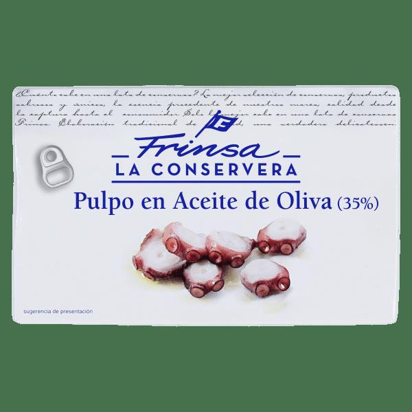 Conserva de pulpo en aceite de oliva Frinsa