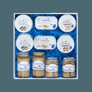 Caja regalo con conservas de bonito del norte Frinsa