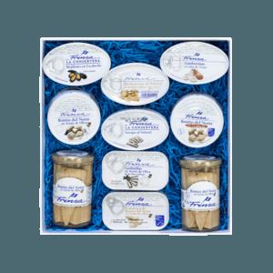 Pack con surtido de conservas variado para regalo Frinsa