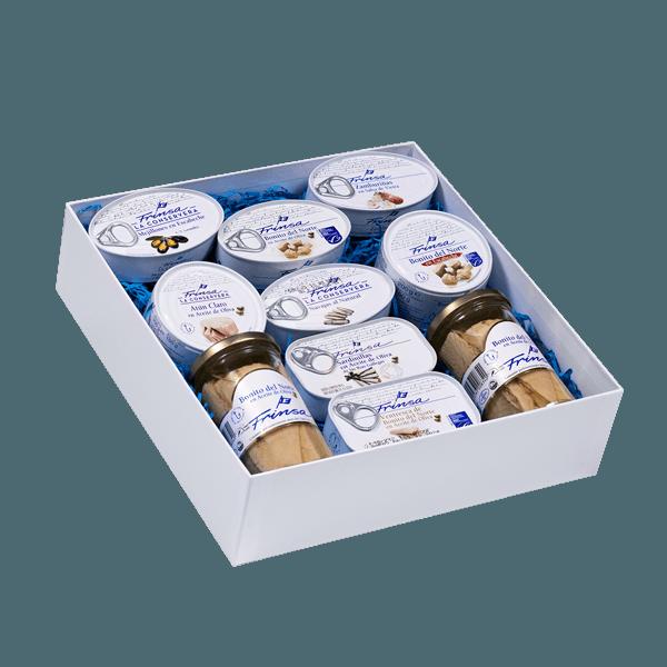 Surtido de conservas para regalar en caja regalo de Frinsa