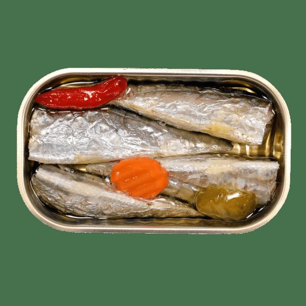 Sardinas en aceite picante con verduras Minerva