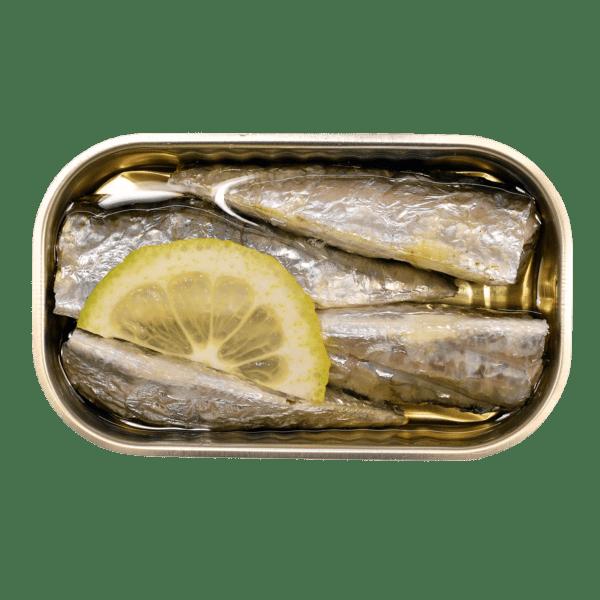 Interior lata de sardinas con limón Minerva